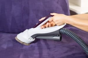 Cleaning Leather Sofa with Vacuum Brush (1)